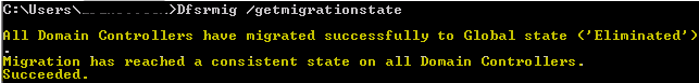 Migrate to Eliminated State Succeeded